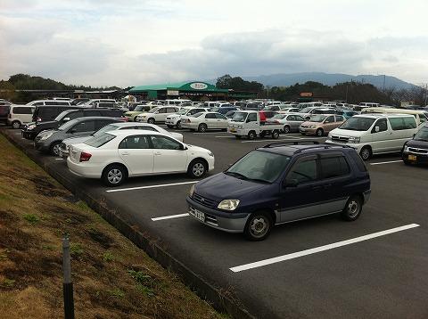 駐車場もほぼいっぱいになりました。