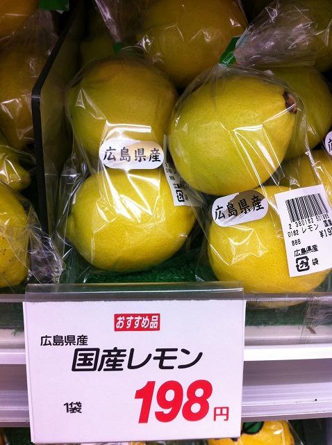 広島のレモンはもう色づいているんだぁ