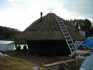 今朝の小屋