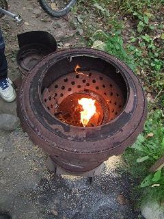 ヌカ釜火つけ