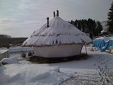 籾殻ハウスと雪