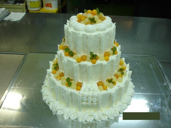特注ケーキ3段