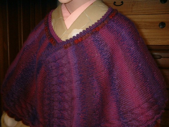 手編みのショール2-2