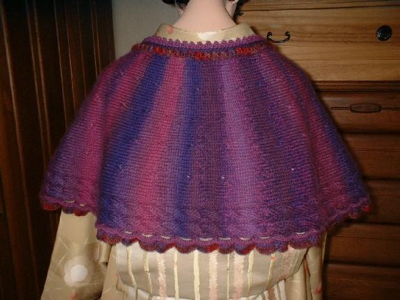 手編みのショール2-3