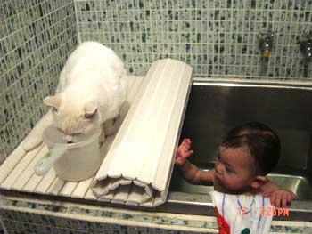 ミミと桃お風呂その3