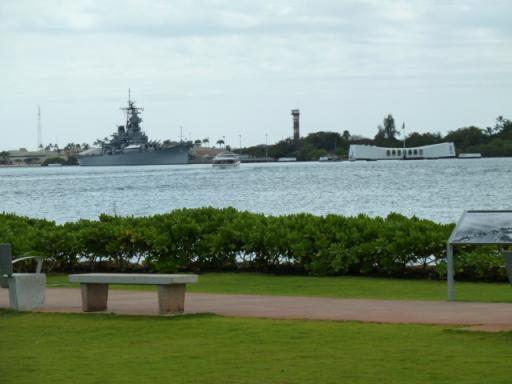 戦艦ミズーリとアリゾナ・メモリアル