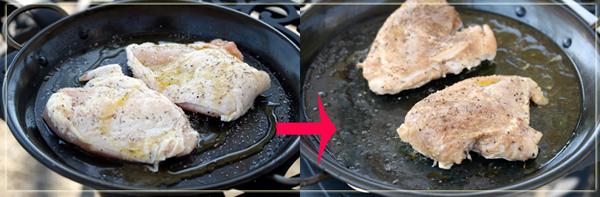 チキン、焼き上がり前後.jpg