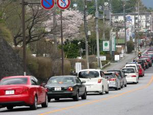 ◇東照宮をめざして走る車でいっぱい!
