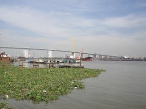 チャオプラヤー川とラマ9世橋