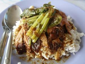 焼きアヒルのせご飯