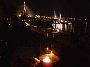 チャオプラヤー川べりでの食事っていいですね~