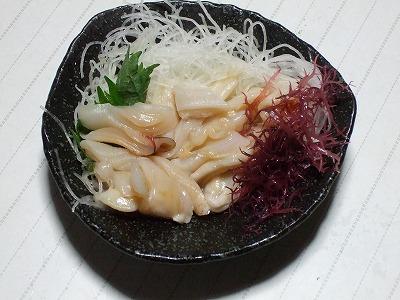 ミル貝の刺身