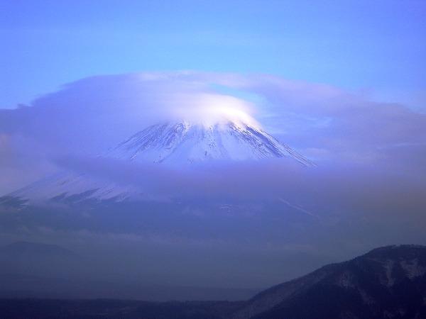 本栖湖から富士