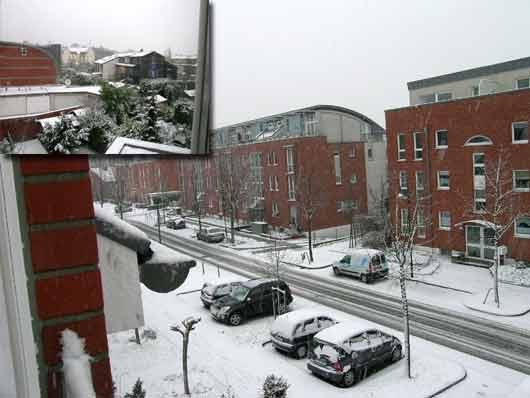 ドイツの雪はすくなかった