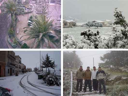 南スペインに雪が降る