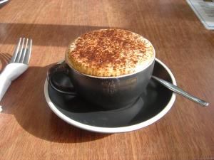 カフェのカプチーノ
