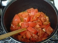 トマトスープ鍋