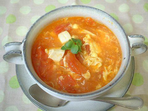トマトスープできあがり