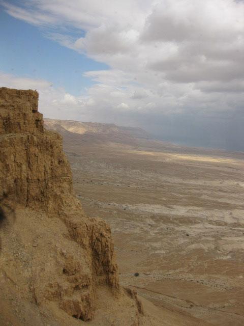 岩山から見える死海一帯