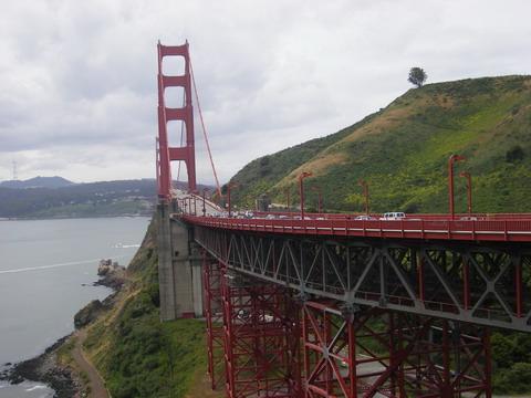 反対側から見た金門橋