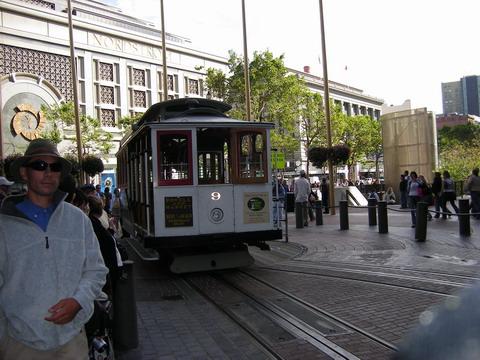 パウエル駅のケーブルカー