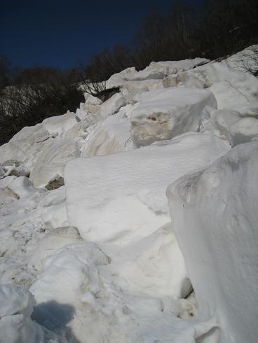 道中の風景 2 雪崩