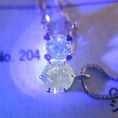 GREENの蛍光ダイヤ