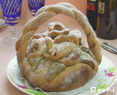 薔薇パン・薔薇かごパン完成