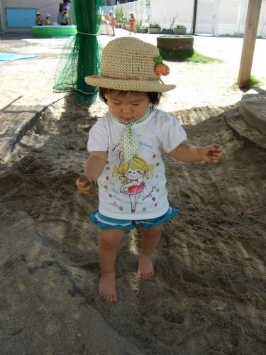 砂場も楽しい!