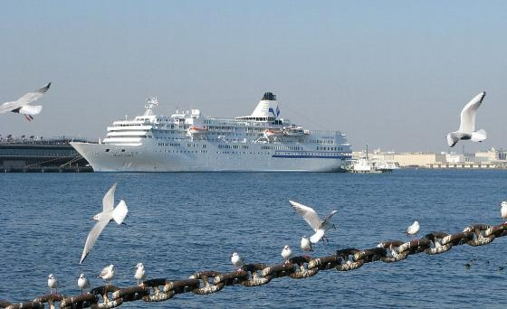 2008.01.06 大桟橋 PACIFIC VENUS入港