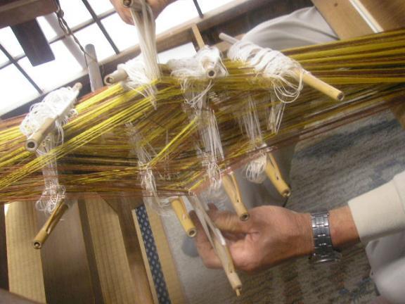 カッペタ織り複雑な糸