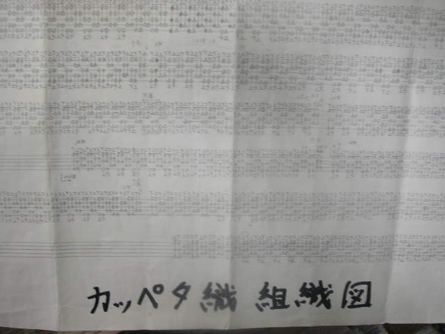 カッペタ織り組織図