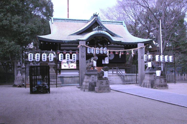 阿遅速雄神社拝殿