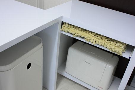 ミシン収納にパソコンデスク