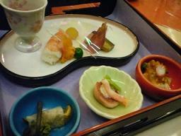 霧島温泉のお料理1