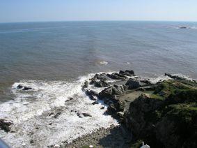 犬吠埼灯台から海を眺める