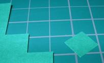 1cm四方の紙を切り出す