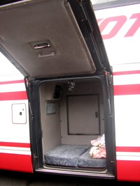 高速バスの仮眠室