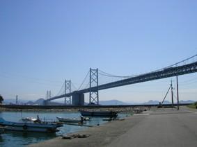 浦城から見た瀬戸大橋