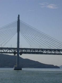 瀬戸大橋を渡る列車