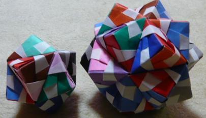中学 中学 数学 図形 : 30枚の折り紙を組み合わせて ...