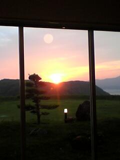 田平からの夕日