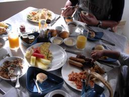 豪華な朝飯