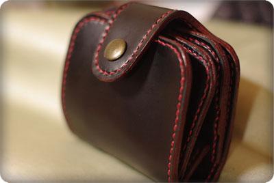 手縫いの革財布二作目