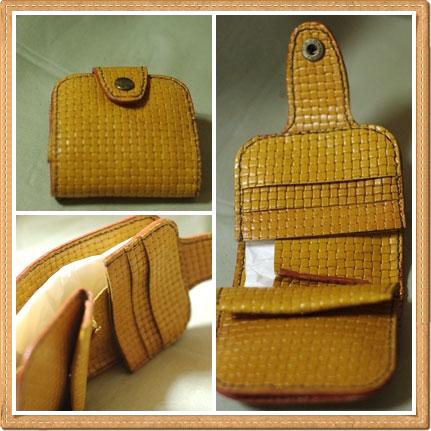 革手縫い財布
