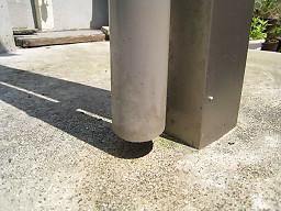 コンクリートのコケ除去1