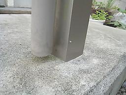 コンクリートのコケ除去2