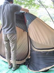 コールマンポップアップテント収納2