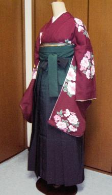 卒業式の袴スタイル例1
