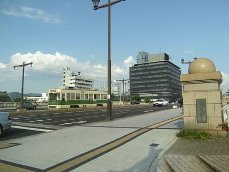 相生橋と路面電車